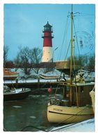 Büsum, Winter Am Leuchtturm, Gelaufen 1981 - Buesum