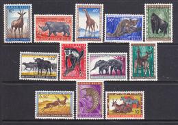 Congo Belga  1959: Animali Serie Cpl. 12 Val Yv. 350-51 MNH ** - Congo Belga