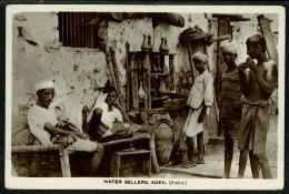 RB 1217 -  Early Real Photo Postcard - Water Sellers - Aden Yemen Middle East - Yemen