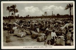 RB 1217 -  Early Real Photo Postcard - A Portion Of Caravan Lehej - Aden Yemen Middle East - Yemen