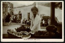 RB 1217 -  Early Real Photo Postcard - Fruits Retailer - Aden Yemen Middle East - Yemen
