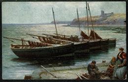 RB 1217 -  Early Postcard - Minding The Nets - Fishing Boats - Maritime Theme - Fishing Boats