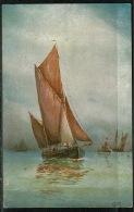 RB 1217 -  Early Artist G.M. Postcard - Fishing Smack - Fishing Boat - Maritime Theme - Fishing Boats
