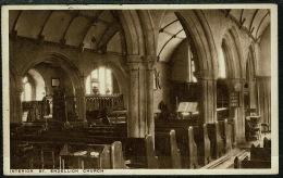 RB 1217 -  Early Postcard - Interior St Endellion Church Near Port Isaac Cornwall - Altri