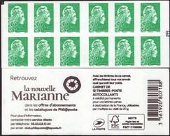 """CARNET Marianne De YSEULT YZ """"RETROUVEZ LA NOUVELLE MARIANNE"""" Avec Carré Noir. Produit Très RARE Et Peu Proposé. - Usage Courant"""