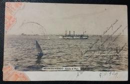 HC - 1904 URUGUAY Montevideo - DESDE EL MAR - BOAT - Ed. COMINI, H. - SCARCE POSTCARD - Uruguay