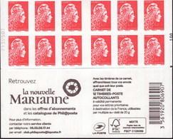 """CARNET Marianne De YSEULT YZ """"RETROUVEZ LA NOUVELLE MARIANNE"""" Avec Carré Noir. Produit Très RARE Et Peu Proposé. - Definitives"""