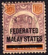 FMS On Perak 1900 10c SG 10 - Used - Federated Malay States