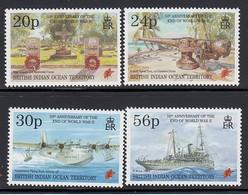 Territoire Britannique De L'Océan Indien, 50 Ans Fin De La 2e Guerre, Timbres Neufs Sans Charnière ** N° Mi. 170-3, 1995 - British Indian Ocean Territory (BIOT)