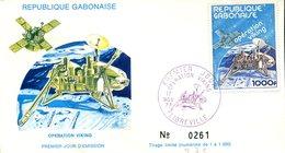 FDC Rép. Gabonaise : Opération Viking - Libreville 17 Nov 1977 - N°261/1000 - Gabon