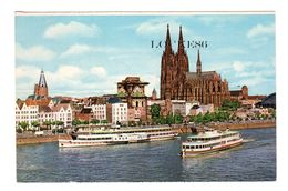 Köln Am Rhein, Rheinufer Mit Dom, 140x90,  Gelaufen 1967 - Koeln