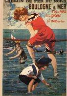 Chemin De Fer Du Nord  -  BOULOGNE-SUR-MER  - Publicité   -  Carte Postale Promo - Autres