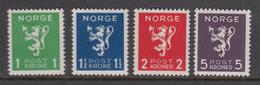 Norway MNH Michel Nr 207/10 From 1940 / Catw 25.00 EUR - Noorwegen