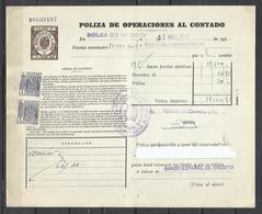 W30A- CLASE 7 18 PTAS SELLOS FISCALES TIMBROLOGIA FILATELIA FISCAL ENTEROS FISCALES POLIZA OPERACIONES AL CONTADO ETAPA - Fiscales