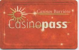 Carte De Membre Casino : Casinopass Casinos Barrière (mauvaise Surface) - Cartes De Casino
