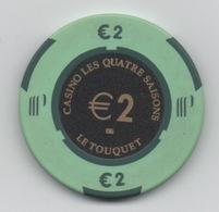 Jeton BG De Blackjack €2 : Casino Les Quatre Saisons : Le Touquet - Casino