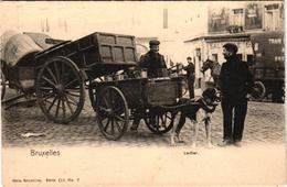 1 Postcard Dogchart  Hondenkar Attelage De Chien  Bruxelles  Laitier Melkboer  Edit. Nels  Serie 111 N°7 - Attelages