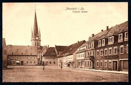 B5577 - Neustadt - Unterer Markt - Trinks & Co - Bahnpost Bahnpoststempel - Schandau Niederneukirch - Neustadt