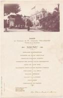 Menu En L' Honneur Du Président De La République Française Alexandre MILLERAND à ALGER Palais De Mustapha 1922 - Menus