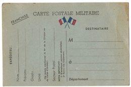CARTE FRANCHISE POSTALE MILITAIRE Avec Cachet : Ceux De L'arrière Doivent Aider Ceux Du Front En Souscrivant Aux Bons D' - Postmark Collection (Covers)