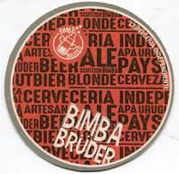 Lote U12, Uruguay, Posavaso, Coaster, Bimba Bruder, Letras - Beer Mats