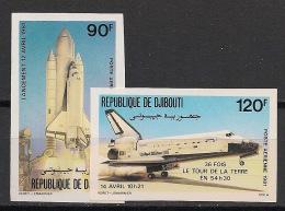 Djibouti - 1981 - PA N°Yv. 155 à 156 - Space Shuttle - Non Dentelé / Imperf. - Neuf Luxe ** / MNH / Postfrisch - Djibouti (1977-...)