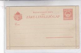 ENTIERS HONGRIE ZART LEVELEZO LAP MAGYAR KRALYI POSTA UNCIRCULATED CIRCA 1900's-BLEUP - Postal Stationery