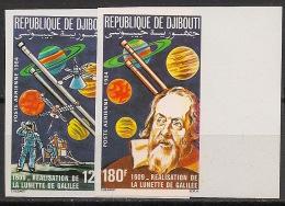 Djibouti - 1984 - PA N°Yv. 213 à 214 - Galilée - Non Dentelé / Imperf. - Neuf Luxe ** / MNH / Postfrisch - Djibouti (1977-...)