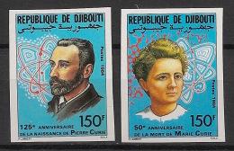 Djibouti - 1984 - N°Yv. 594 à 595 - Pierre Et Marie Curie - Non Dentelé / Imperf. - Neuf Luxe ** / MNH / Postfrisch - Djibouti (1977-...)