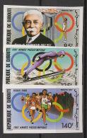 Djibouti - 1987 - N°Yv. 636 à 638 - Olympic Games 1988 - Non Dentelé / Imperf. - Neuf Luxe ** / MNH / Postfrisch - Djibouti (1977-...)