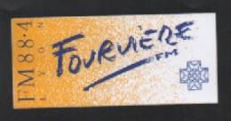 RADIO FOURVIERE LYON FM  - AUTOCOLLANT REF: 1000 - Autocollants