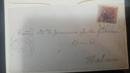 O) 1883 CUBA-CARIBE, CARIBBEAN, ARAÑITAS TYPE D - RED OVERPRINTED ON KING ALFONSO XII, INTERNAL SERVICE, XF - Cuba