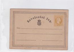 ENTIER ENTERO LEVELEZESI LAP UNCIRCULATED CIRCA 1900's-BLEUP - Postal Stationery