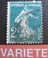 R1752/589 - 1932 - TYPE SEMEUSE - N°278 - VARIETE ☛ FOND LIGNE HORIZONTAL / VAGUES BLANCHES - Variétés Et Curiosités
