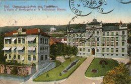 (72)  CPA  Bienne  Biel  Ecole Horlogerie    (Bon Etat) - BE Berne