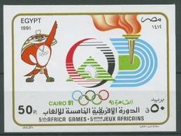 Ägypten 1991 Afrikanische Sportspiele Kairo Block 54 Postfrisch (C27269) - Blocks & Sheetlets
