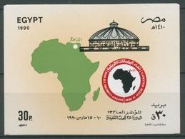 Ägypten 1990 Konferenz D. Afr. Parlamentarier-Union Block 50 Postfrisch (C27291) - Blocks & Sheetlets