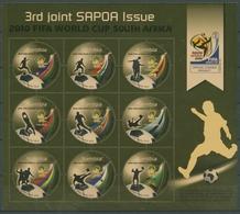 Namibia 2010 Fußball-WM In Südafrika SAPOA 133745 K I Postfrisch (SG27573) - Namibia (1990- ...)