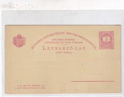 ENTIER ENTERO LEVELEZO LAP RED COLOR UNCIRCULATED CIRCA 1900's-BLEUP - Postal Stationery