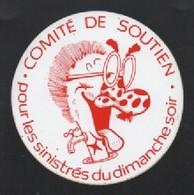 COMITE DE SOUTIEN POUR LES SINISTRES DU DIMANCHE SOIR - AUTOCOLLANT REF: 1009 - Autocollants