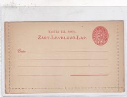 ENTIER ENTERO MAGYAR KIR ORANGE COLOR UNCIRCULATED HONGRIE CIRCA 1900's-BLEUP - Postal Stationery