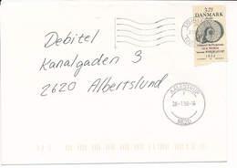 Mi 1195 Missent Solo Cover Fossil - 28 January 1999 Aalestrup / Postmark - Denmark