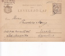 ENTIER ENTERO MAGYAR KIR BROWN COLOR CIRCULATED HONGRIE CIRCA 1910-BLEUP - Postal Stationery