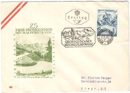 AUSTRIA - ÖSTERREICH - AUTRICHE - 1960 - S1,80 25 Jahre Großglockner Hochalpenstraße - Bruck - FDC - Viaggiata Per Steyr - FDC