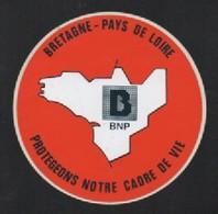 BNP BRETAGNE PAYS DE LOIRE - AUTOCOLLANT REF: 1017 - Autocollants