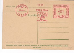 ENTIER ENTERO MAGYARRORSZAG VIIIFILPOROK BUDAPEST. HONGRIE CIRCA 1937 AFFRANCHISSEMENT MECANIQUE-BLEUP - Postal Stationery