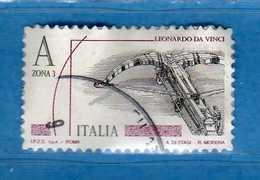 Italia ° -  2015 -  LEONARDESCA Euro; 5,50  ZONA 3.    Usato .  .   Vedi Descrizione - 6. 1946-.. Repubblica