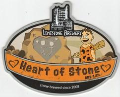 LYMESTONE BREWERY (STONE, ENGLAND) - HEART OF STONE - PUMP CLIP FRONT - Schilder