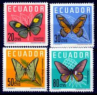 ECUADOR  1961  BUTTERFLIES  SET MNH - Ecuador