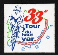 TOUR DU HAUT VAR 2001 VELO CYCLISME - AUTOCOLLANT REF: 1024 - Autocollants